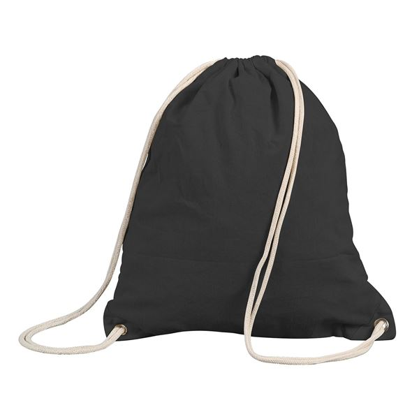 Picture of STAFFORD COTTON DRAWSTRING BACKPACK 5895 Black