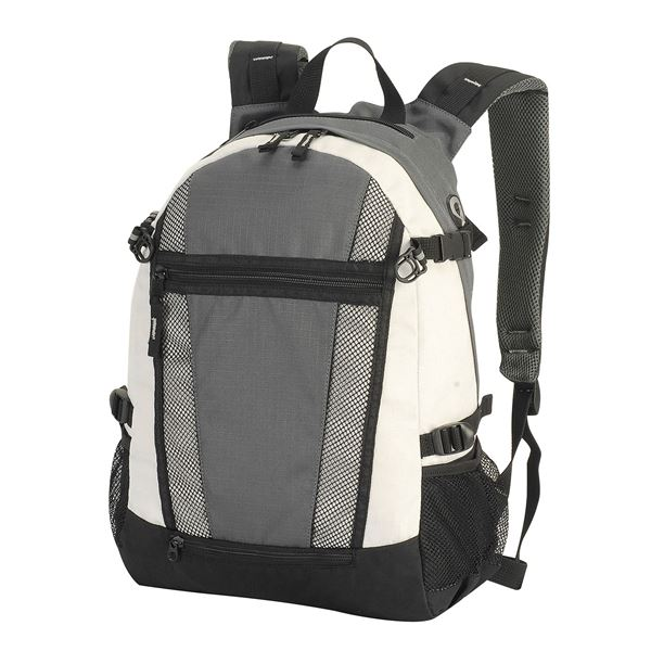 Picture of INDIANA BACKPACK 1295 Dark Grey/ Off-White