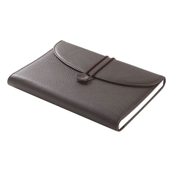 Picture of NAPPA LEATHER A5 NOTEBOOK 16.720.341 Dark Brown