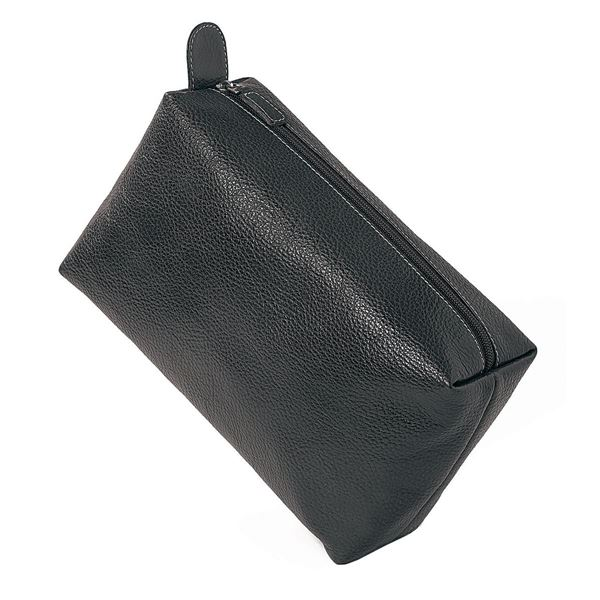 Picture of NAPPA LEATHER TOILETRY BAG 15.605.310 Black