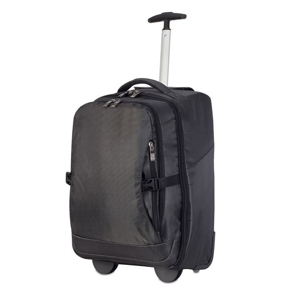 Picture of ROMA LAPTOP TROLLEY BACKPACK  1424 Black