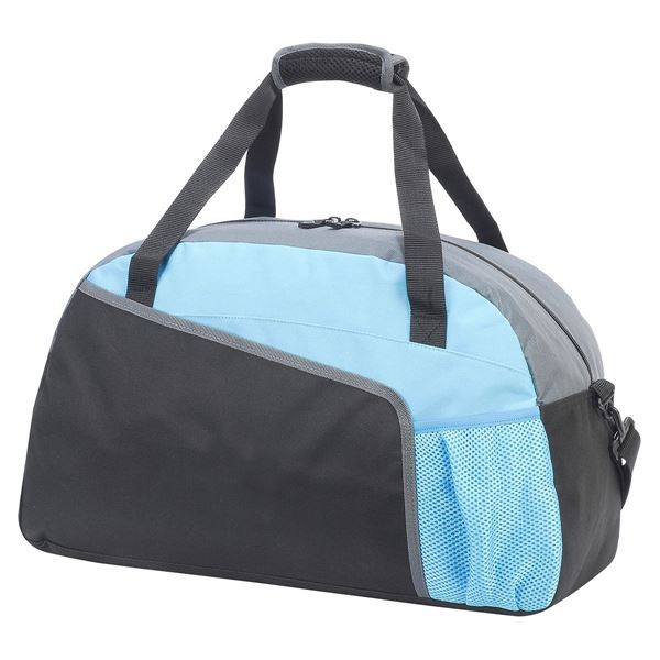 Picture of SALONIKI SPORTS HOLDALL 1584 Black/Light Blue/Grey