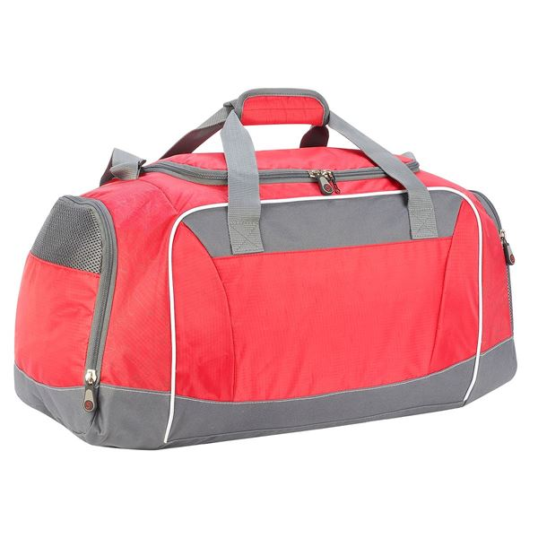 Picture of WATERLOO SPORTS HOLDALL 1585 Red/ Dark Grey/ White