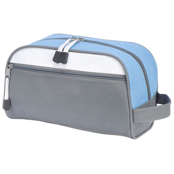 Picture of BILBAO TOILETRY BAG 4450 Dark Grey/Light Blue/White