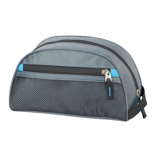 TOILETRY BAG 4484 Dark Grey/Turquoise