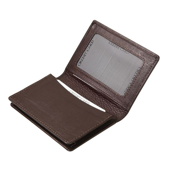 Picture of NAPPA LEATHER BUSINESS CARD HOLDER 16.716.341 Dark Brown