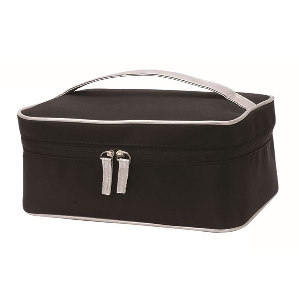 COSMETIC TOILETRY BAG 4838 Black/Silver