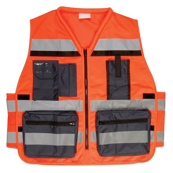 WORK VEST 2574 XXL Hi-Vis Orange