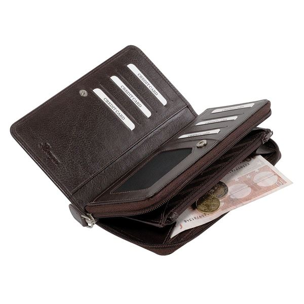 LEATHER PURSE 14.519.141 Dark Brown