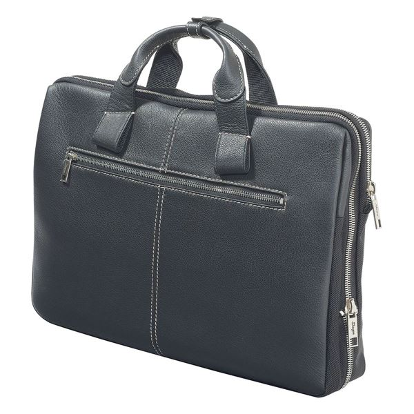 Image sur NAPPA LEATHER LAPTOP BRIEFCASE 11.201.310 Black