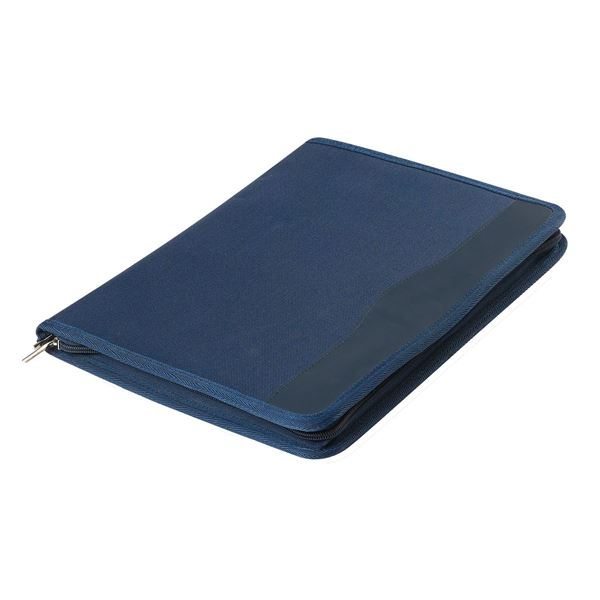 POLYESTER A4 ZIPPED FOLDER  10.117.821 Navy