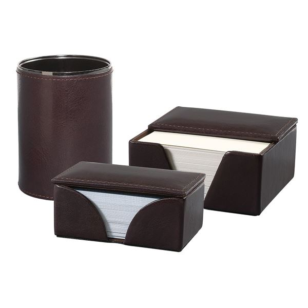 Image sur LEATHER DESK SET 16.704.141 Dark Brown
