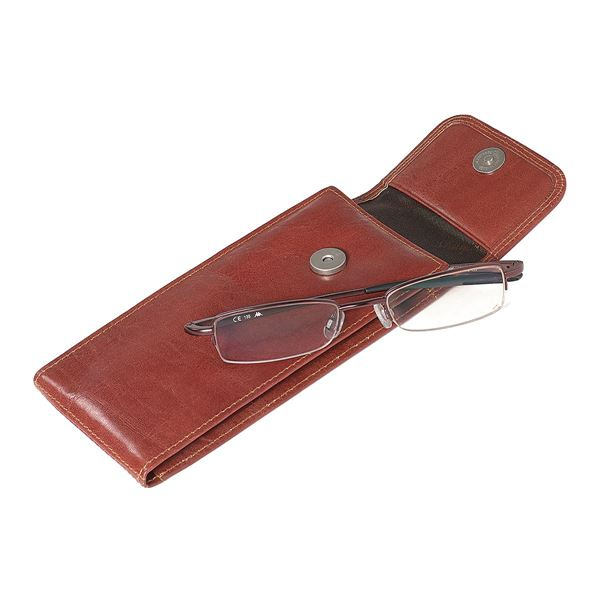 Bild von LEATHER GLASSES CASE 18.902.140 Brown