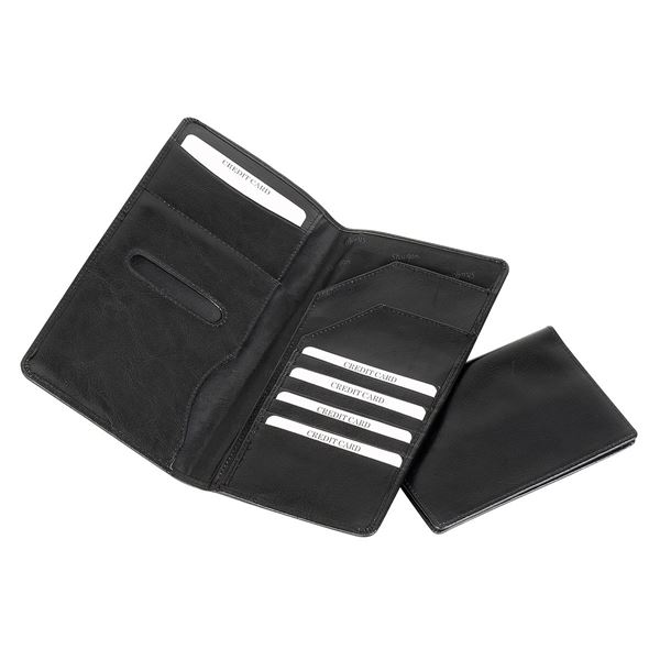 LEATHER TRAVEL WALLET 17.802.510 Black