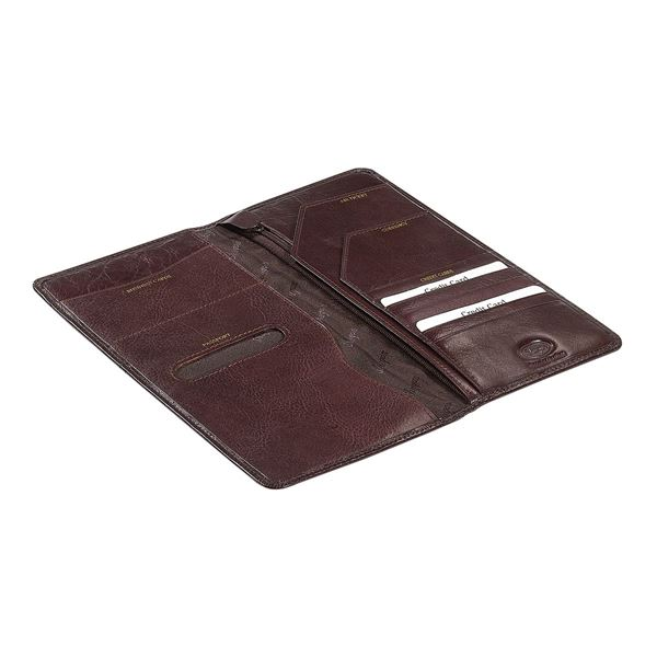 LEATHER TRAVEL WALLET 17.804.141 Dark Brown