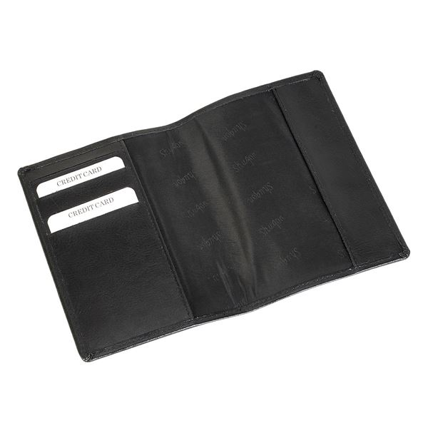 Picture of LEATHER PASSPORT COVER 17.820.510 Black
