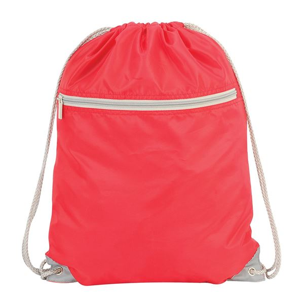 Picture of DRAWSTRING TOTE 5893 Red