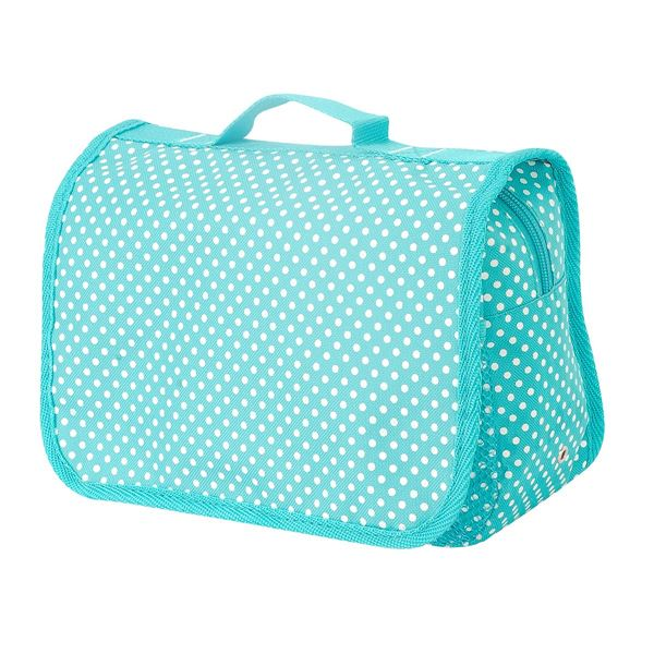 TOILETRY BAG 88-4476-23 Turquoise Polka-Dot