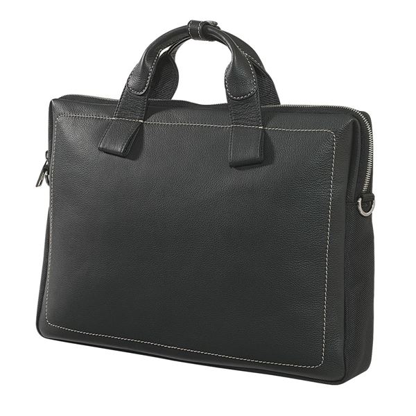 NAPPA LEATHER LAPTOP BRIEFCASE 11.200.310  Black