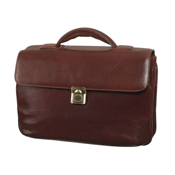 LEATHER LAPTOP BRIEFCASE 11.202.740 Brown