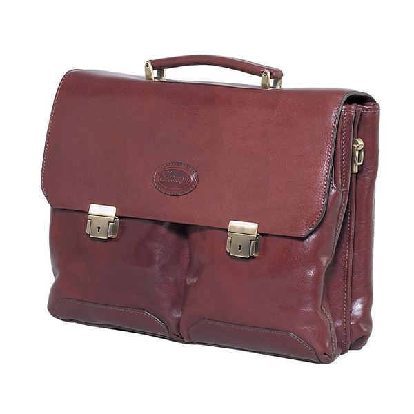 LEATHER LAPTOP BRIEFCASE 11.205.740 Brown