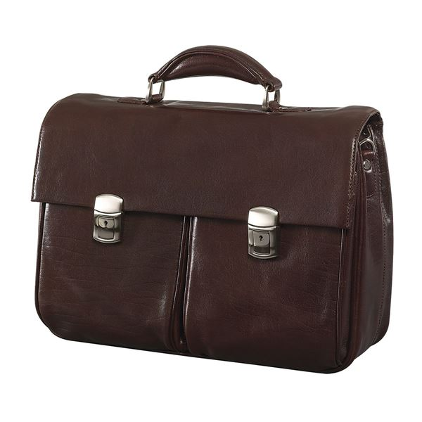 Picture of LEATHER LAPTOP BRIEFCASE 11.204.741 Dark Brown