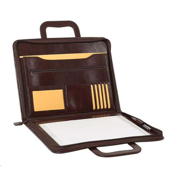 Bild von LEATHER A4 ZIPPED FOLDER 10.104.141 Dark Brown