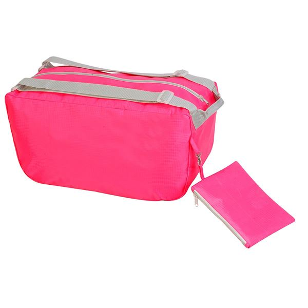 Image sur BARI FOLDING TRAVEL HOLDALL 1433 Hot Pink / Light Grey