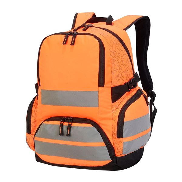 LONDON PRO HI-VIS BACKPACK 7702  Hi-Vis Orange