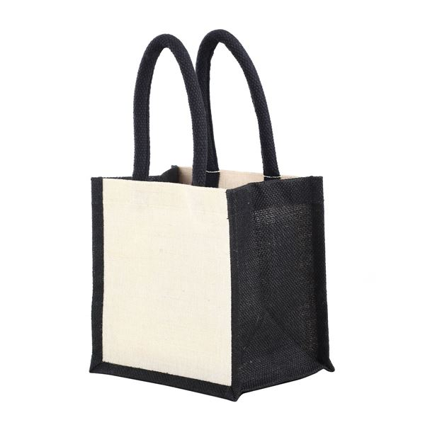 Image sur JAIPUR SMALL JUTTON GIFT BAG 1102 Natural/Black