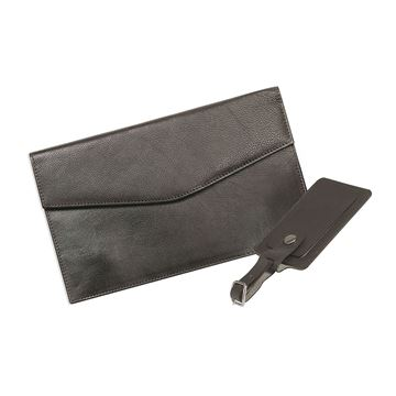 Image de LEATHER TRAVEL WALLET WITH LUGGAGE TAG 17.816.141