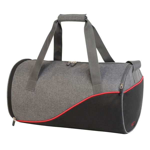 Picture of 1586 ANDROS DAILY SPORTS BAG Grey Melange/ Black/ Red
