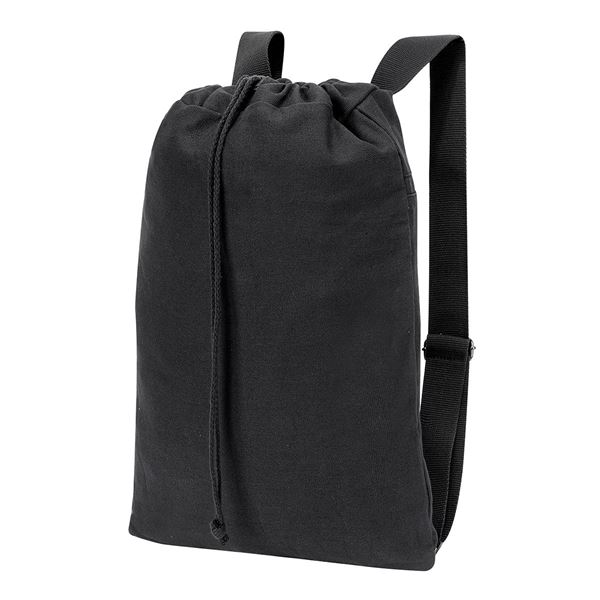 Immagine di 5897 SHEFFIELD COTTON DRAWSTRING BACKPACK  Black washed