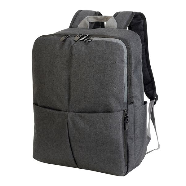 5822 HANNOVER ETERNAL LAPTOP BACKPACK Black Mélange / Gray