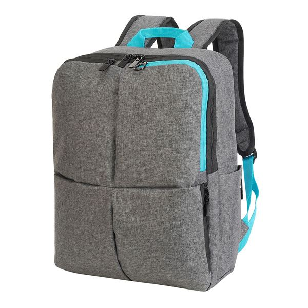 Изображение 5822 HANNOVER ETERNAL LAPTOP BACKPACK Grey Mélange / Turquoise