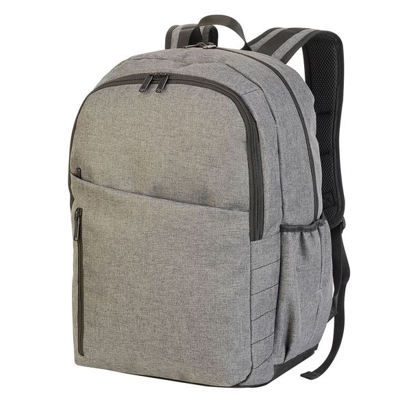 7698 BIRMINGHAM CAPACITY  BACKPACK ميلانج فحمي رمادي
