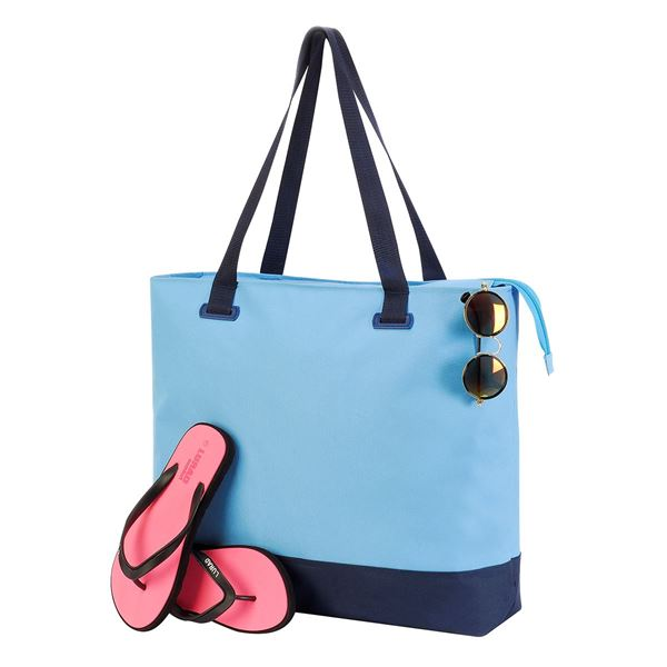 Image sur 4133 BüRMOOS WELLNESS LEISURE BAG Bleu clair/ Bleu marine