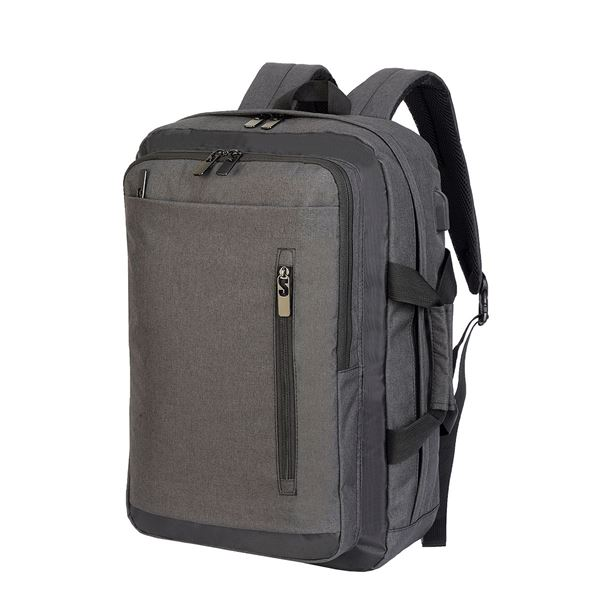 Bild von BORDEAUX HYBRID LAPTOP BRIEFCASE 5819 Charcoal Mélange/ Black