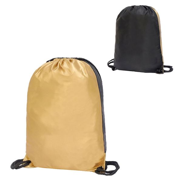 5891 STAFFORD CONTRAST DRAWSTRING BACKPACK Oro / negro