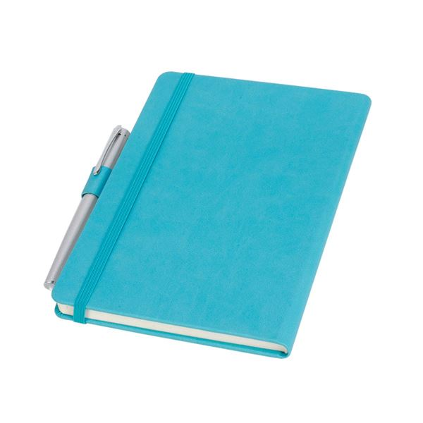 Picture of A5 PU NOTEBOOK 16.728 Emerald Blue