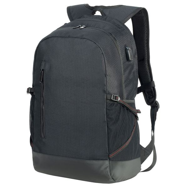 5816  LEIPZIG DAILY LAPTOP BACKPACK Black