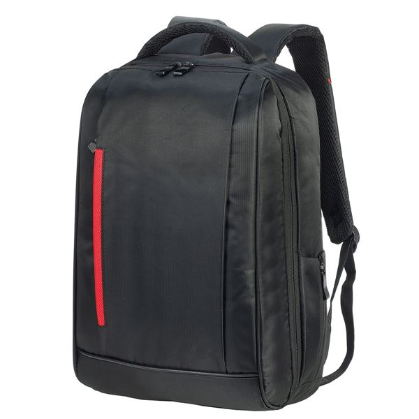 5820 KIEL URBAN LAPTOP BACKPACK Black/Red