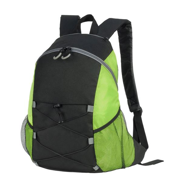 Picture of 7237 CHESTER BACKPACK Black/ Lime Green