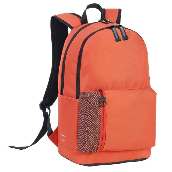 Picture of 7687 PLYMOUTH STUDENT BACKPACK Mandarin Orange / Black